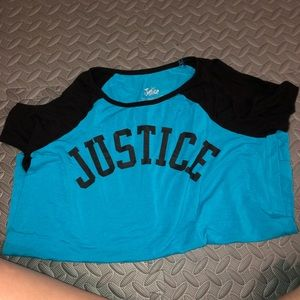 Justice cold shoulder tee